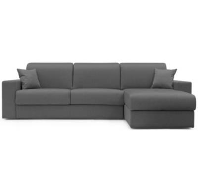 Canapé d'angle 3 places Noir Tissu Petit