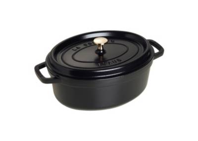 Cocotte ovale STAUB diam 27 cm noire