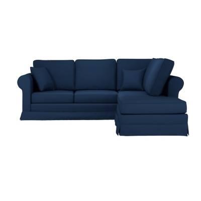 Canapé d'angle 3 places Noir Tissu Confort