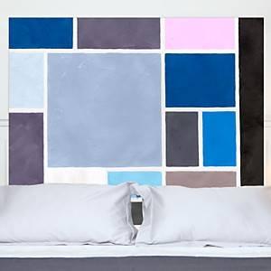 Tête de lit Poudrée MADEMOISELLE TISS,  bleu