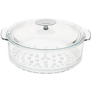 Cuit-vapeur en verre + couvercle CRISTEL  - 20 cm