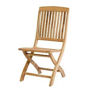 Lot de 2 chaises pliantes Java en teck  brut massif