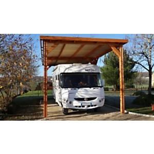 Abri toit plat Aquitaine pour Camping Car CPBF 8 poteaux