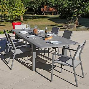 Lot de 6 Fauteuils empilable gris ARANO MEDICIS
