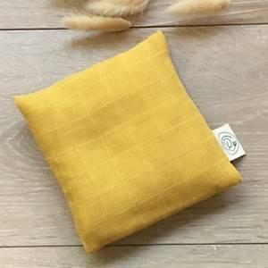 Bouillotte coton bio PITIGAIA, moutarde