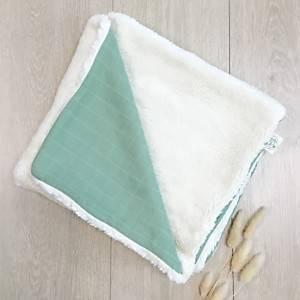 Couverture coton bio PITIGAIA, vert