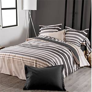 Drap housse percale Stripe Ficelle  TRADILINGE