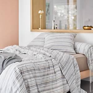 Drap housse percale David CAMIF