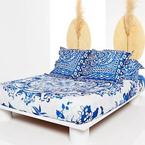 Taie d'oreiller percale Think in Blue  DESIGUAL