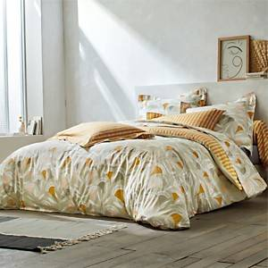 Taie de traversin percale Noukku Flore  SCION LIVING