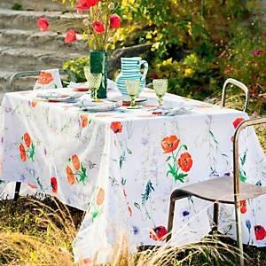 Chemin de table coton bio Coquelicots Floraison GARNIER THIBAUT