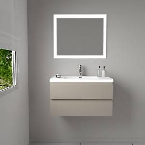 Meuble simple vasque laqué HALO