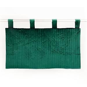 Tête de lit velours Velina, vert cèdre