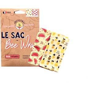 Pack de 2 sacs alimentaire en Bee Wrap S/M