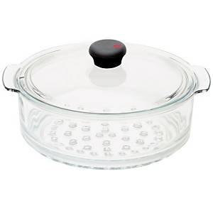 Cuit vapeur verre 24 cm avec couvercle  COOKWAY