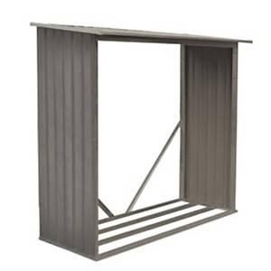Abri en métal monopente 6,5 x 3 m aspect  bois vieilli CHALET ET JARDIN