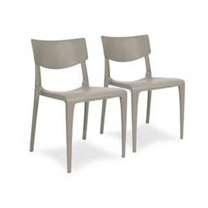Lot de 2 chaises empilables TOWN EZPELETA
