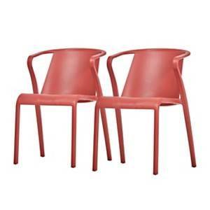 Lot de 2 fauteuils empilables FADO EZPELETA