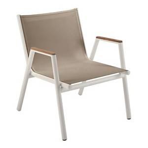Lot de 2 fauteuils bas Pilotis avec  dossier et assise en Batyline VLAEMYNCK