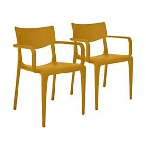 Lot de 2 fauteuils empilables TOWN EZPELETA