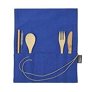 Range-couverts et couverts en bambou bleu, ARTIGA