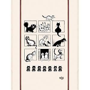 Grand torchon Dubout Galerie de chats