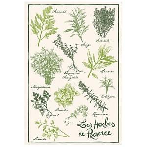 Torchon Imprimé Les herbes de provence