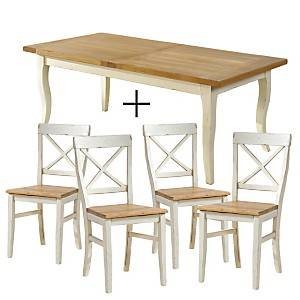 Ensemble table + 4 chaises Marguerite de Provence