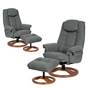 Lot de 2 fauteuils relax microfibre NEC NEC
