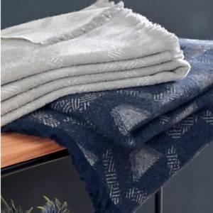 Plaid laine et coton recyclé Laurel CAMIF