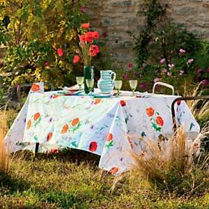 Nappe coton bio Coquelicots Floraison GARNIER THIEBAUT