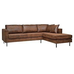 Canapé d'angle microfibre aspect cuir Pittsburgh