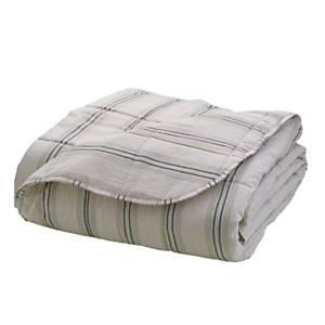 Couvre lit matelassé effet lin Matéo, gris