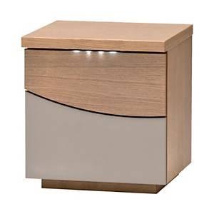 Chevet 2 tiroirs Maho