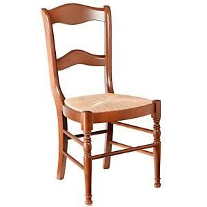 Lot 2 chaises Mélanie dos barettes,  merisier