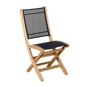 Lot de 2 chaises pliantes Tekura, teck/ toile Batyline®