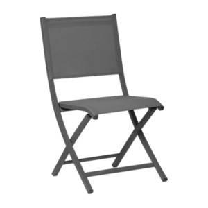 Lot de 6 chaises pliantes gris ARANO MEDICIS